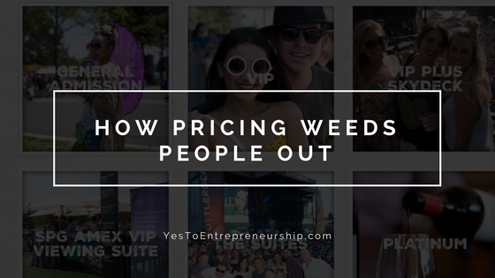 How pricing weeds people out