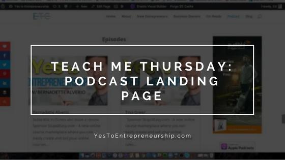 Teach me Thursday: Podcast landing page