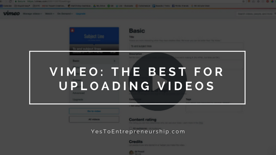 Vimeo is the best place to upload videos
