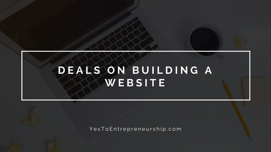 Black Friday & Cyber Monday Deals on building a website