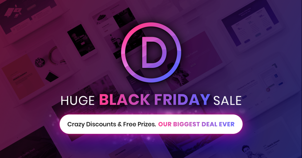 Black Friday deals on tech and web design Divi