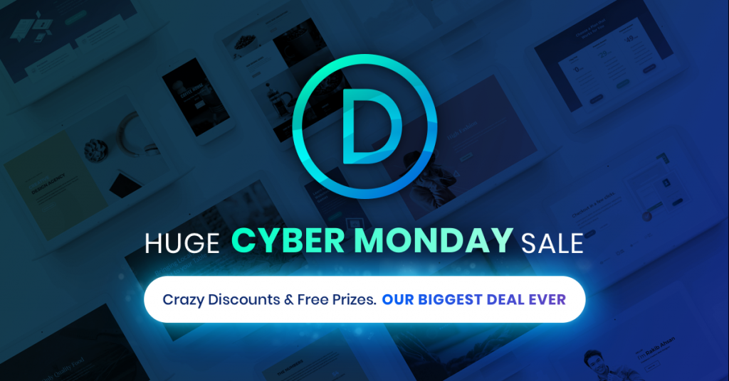 Huge Cyber Monday sale on WordPress theme Divi